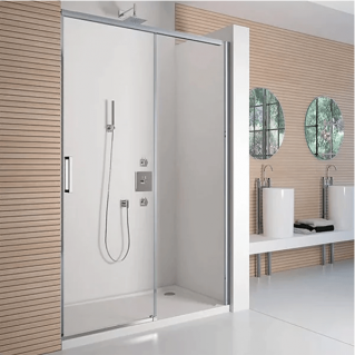 Merlyn 8 Series Frameless Sliding Shower Door with Tray 1400mm