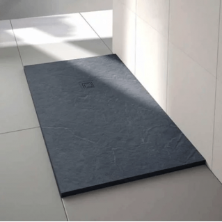 Merlyn Truestone Rectangular Shower Tray 1000 x 800mm Slate Black