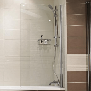 Roman Lumin8 8mm Frameless Bath Screen 835mm