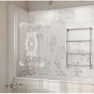 Roman Lumin8 8mm Frameless Victoriana Bath Screen 835mm