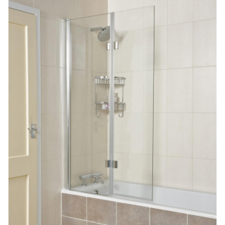 Roman Lumin8 8mm Hinged Inward Opening Bath Screen 910mm Left Hand