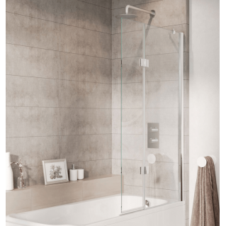 Roman Lumin8 8mm Hinged Outward Opening Bath Screen 910mm Right Hand