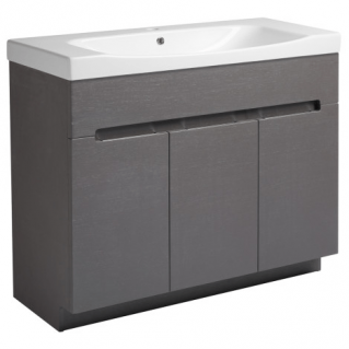 Roper Rhodes Diverge 1000mm Freestanding Unit with Ceramic Basin Charcoal Elm