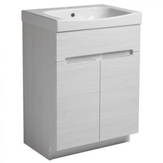 Roper Rhodes Diverge 600mm Freestanding Unit with Ceramic Basin Alpine Elm