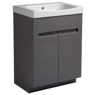 Roper Rhodes Diverge 600mm Freestanding Unit with Ceramic Basin Charcoal Elm
