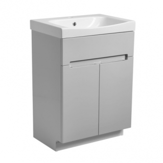 Roper Rhodes Diverge 600mm Freestanding Unit with Ceramic Basin Gloss Light Grey