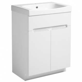Roper Rhodes Diverge 600mm Freestanding Unit with Ceramic Basin Gloss White