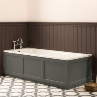 Roper Rhodes Hampton 1700mm Pewter Bath Front Panel