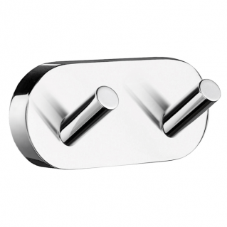 Smedbo Home Double Towel Hook Polished Chrome