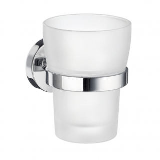 Smedbo Home Holder with Tumbler Polished Chrome