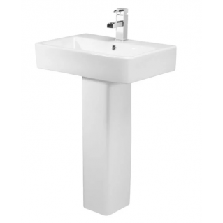 Tavistock Ion 570mm Ceramic Basin with Pedestal