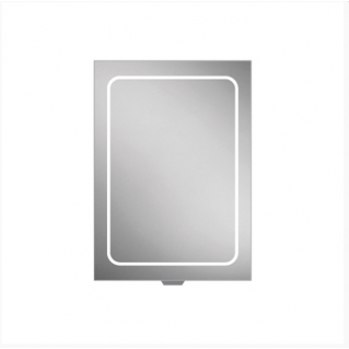 HIB Vapor 50 LED Demisting Aluminium Bathroom Cabinet 500 x 700mm