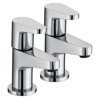 Bristan Quest Basin Taps Pair Chrome