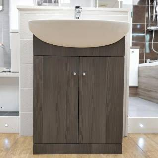 Ikoma Bodega Grey Vanity Unit with Basin 650mm