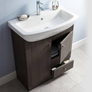 Ikoma Bodega Grey Vanity Unit with Basin 850mm