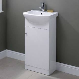 Ikoma White Gloss Vanity Unit with Basin 450mm