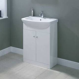Ikoma White Gloss Vanity Unit with Basin 550mm