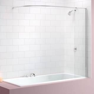 Merlyn Fixed Panel MB5 Bath Screen with Curtain Rail