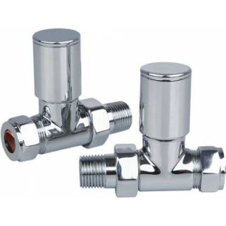 Reina Portland Straight Radiator Valves Chrome