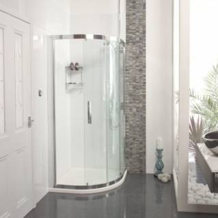 Roman Embrace One Door Quadrant Sliding Shower Door 800 x 800mm