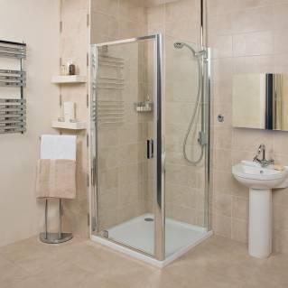 Roman Embrace Pivot Shower Door 760mm