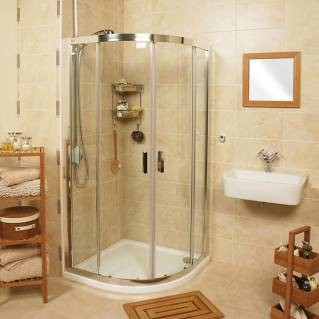 Roman Embrace Two Door Quadrant Sliding Shower Door 800 x 800mm