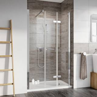 Roman Innov8 Bi-Fold Shower Door with In-Line Panel Alcove Fitting 1200mm