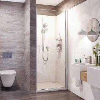 Roman Innov8 Pivot Shower Door Alcove Fitting 760mm