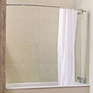 Roman Lumin8 Mini Fixed Panel Bath Screen with Curtain & Rail