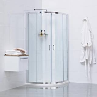 Roman Lumin8 Two Door Quadrant Sliding Shower Door 800 x 800mm