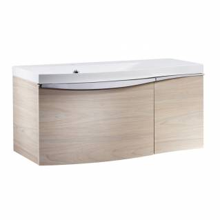 Roper Rhodes Serif 900mm Left Hand Wall Mounted Unit with Basin Light Elm