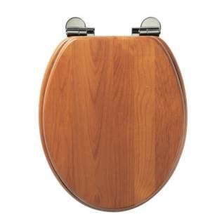 Roper Rhodes Traditional Antique Pine Solid Wood Toilet Seat with Quick Release Hinges