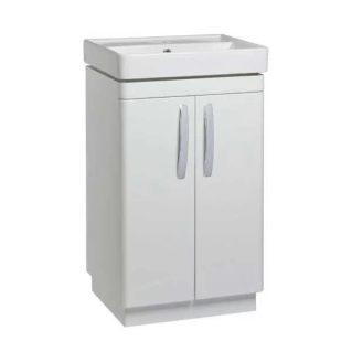 Tavistock Compass 500mm Freestanding Vanity Unit & Basin Gloss White