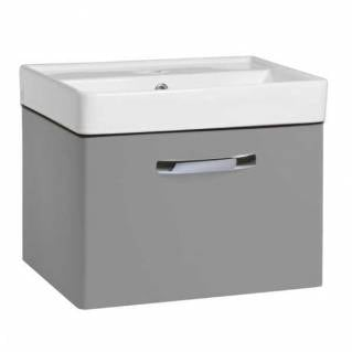 Tavistock Compass 500mm Wall Mounted Vanity Unit & Basin Gloss Light Grey