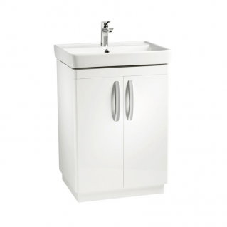 Tavistock Compass 600mm Freestanding Vanity Unit & Basin Gloss White