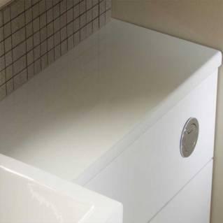 Tavistock Courier 1500mm Slimline Worktop White