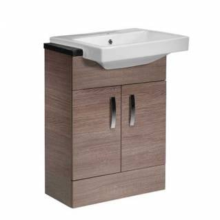Tavistock Courier 600mm Semi-Countertop Unit Havana Oak