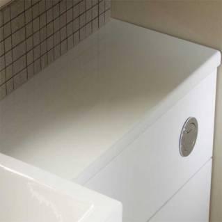 Tavistock Courier 600mm Slimline Worktop White