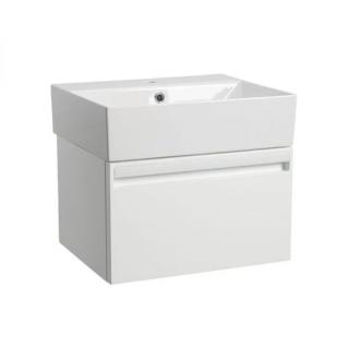 Tavistock Forum 500mm Wall Mounted Vanity Unit & Basin Gloss White