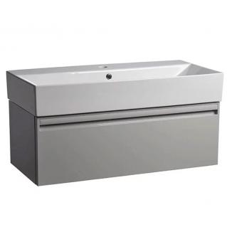 Tavistock Forum 900mm Wall Mounted Vanity Unit & Basin Gloss Light Grey