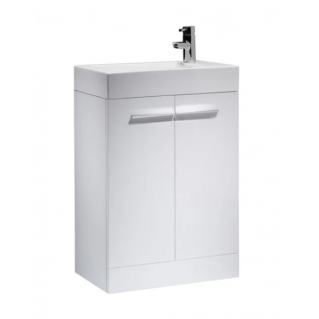 Tavistock Kobe 560mm Freestanding Vanity Unit & Basin Gloss White