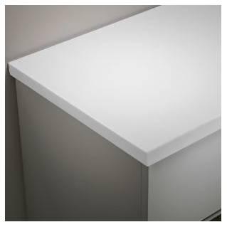 Tavistock Lansdown 1280mm Solid Surface Worktop Arctic White