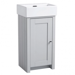 Tavistock Lansdown 430mm Cloakroom Vanity Unit & Basin Pebble Grey