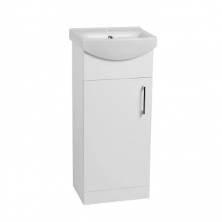 Tavistock Opal 400mm Freestanding Vanity Unit & Basin Gloss White