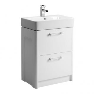 Tavistock Q60 570mm Freestanding Vanity Unit & Basin Gloss White