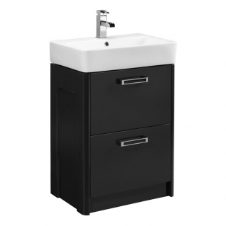 Tavistock Q60 570mm Freestanding Vanity Unit & Basin Graphite