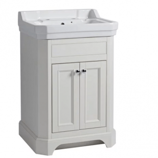 Tavistock Vitoria 600mm Freestanding Vanity Unit & Basin Linen White