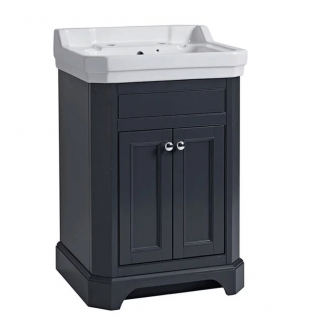 Tavistock Vitoria 600mm Freestanding Vanity Unit & Basin Matt Dark Grey