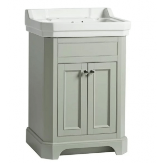 Tavistock Vitoria 600mm Freestanding Vanity Unit & Basin Pebble Grey
