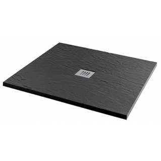 MX Minerals Square Jet Black shower tray 900 x 900mm